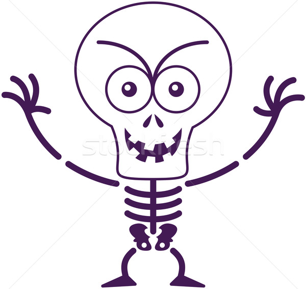 Mischievous Halloween skeleton posing and smiling maliciously Stock photo © zooco