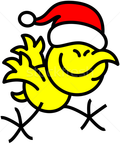 Legal amarelo frango natal Foto stock © zooco