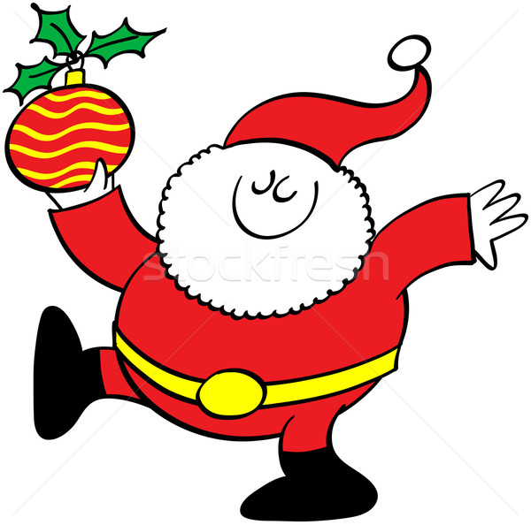 Santa Claus holding a beautiful Christmas bauble Stock photo © zooco