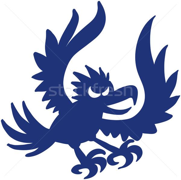 Blu aquila uccello apertura ali Foto d'archivio © zooco