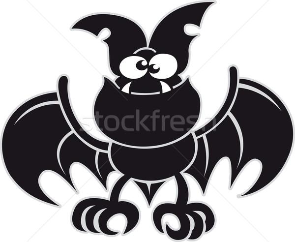 Black bat posing and smiling Stock photo © zooco