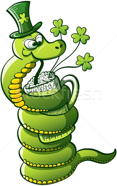 Saint Patrick's Day Snake Stock photo © zooco