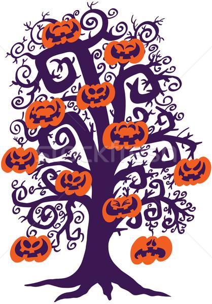Хэллоуин дерево полный непослушный нет Сток-фото © zooco