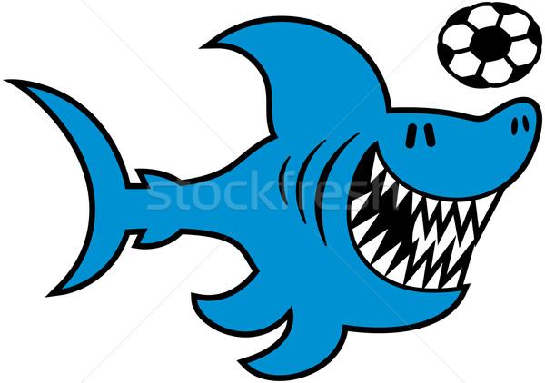いい サメ サッカーボール クール 青 シャープ ストックフォト © zooco