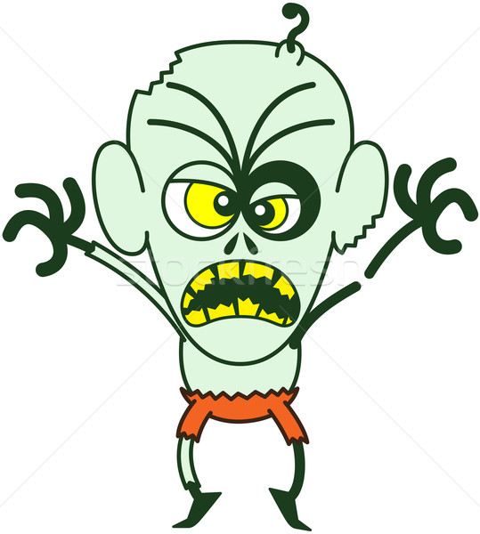 Terrific Halloween zombie being scary Stock photo © zooco