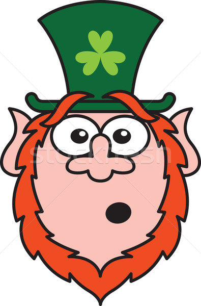 Surprised St Paddy's Day Leprechaun  Stock photo © zooco