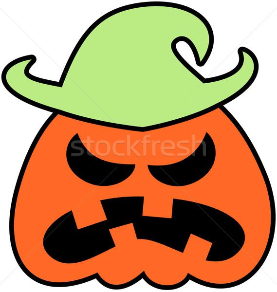 Wściekły halloween strach na wróble scary pomarańczowy Zdjęcia stock © zooco