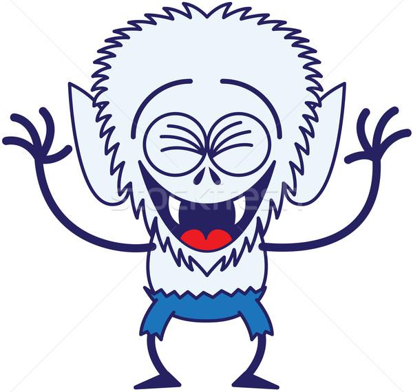 Serin halloween kurt adam gülme büyük kafa Stok fotoğraf © zooco