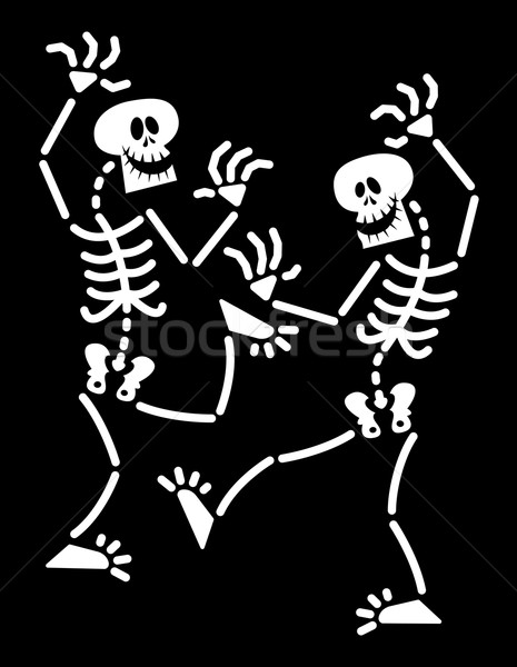 Paar halloween dansen lachend levendig Stockfoto © zooco