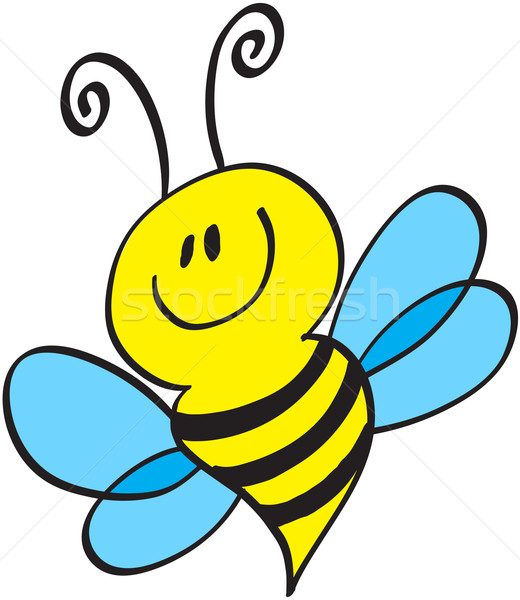 Nice little bee smiling Stock photo © zooco