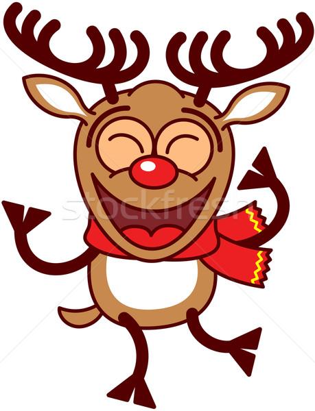 Christmas reindeer dancing animatedly Stock photo © zooco