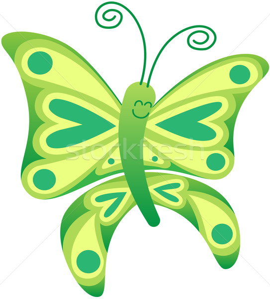 Beautiful green butterfly posing and smiling Stock photo © zooco