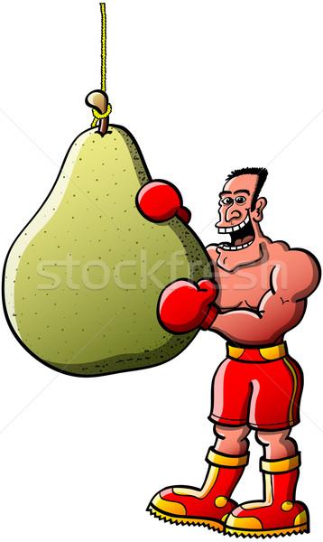 面白い ボクサー 食べる ボクシング 袋 クール ストックフォト © zooco
