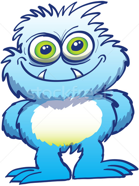Intimidating little blue monster Stock photo © zooco