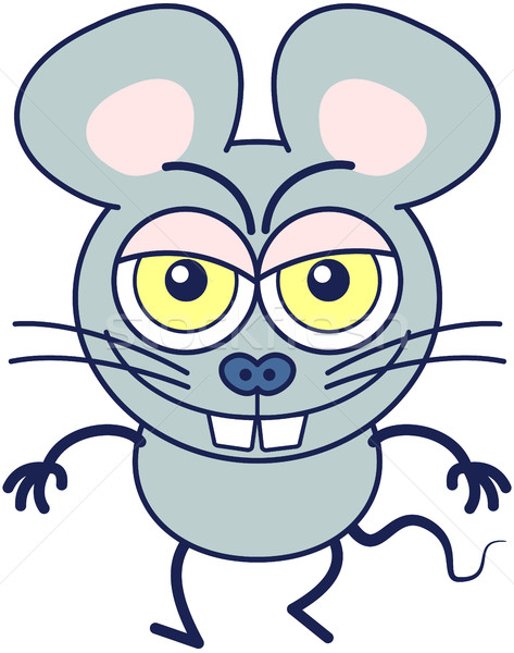 Funny mouse showing a naughty mood Stock photo © zooco