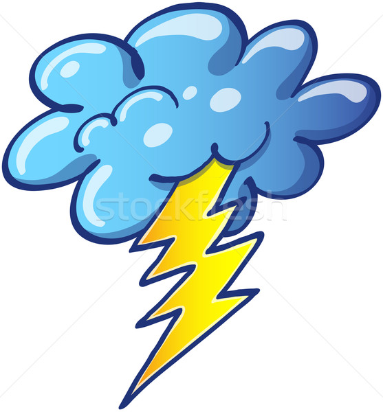 Stormy cloud with a thunderbolt  Stock photo © zooco