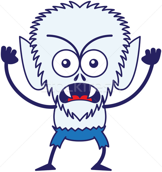 Angry Halloween werewolf feeling furious and protesting Stock photo © zooco