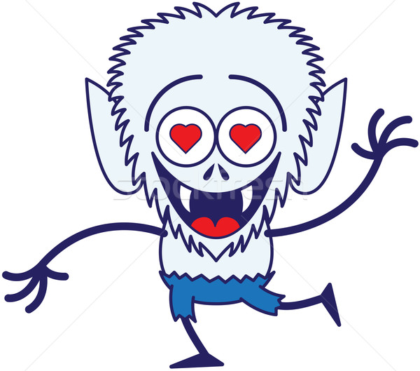 Cute Halloween werewolf in love Stock photo © zooco
