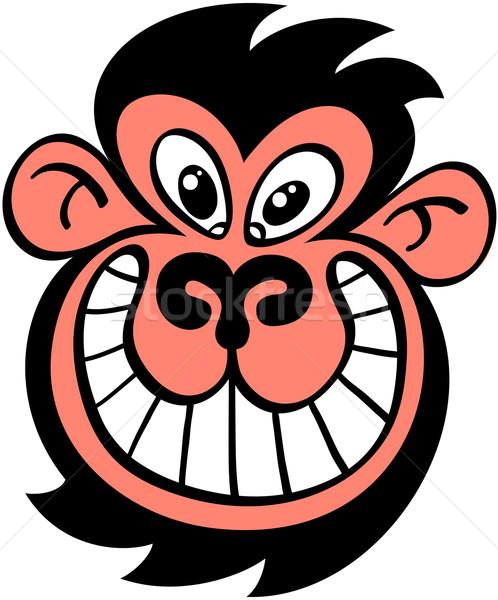 Häßlich Affe grinsend weird schwarz Stock foto © zooco