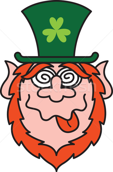Mad Saint Paddy's Day Leprechaun Stock photo © zooco