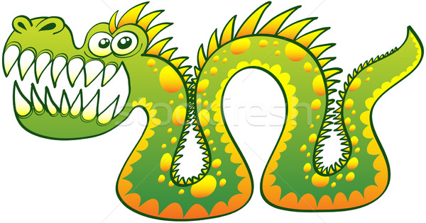 Sea monster in angry mood  Stock photo © zooco