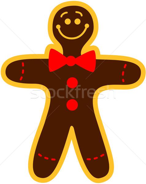 Christmas cookie man Stock photo © zooco
