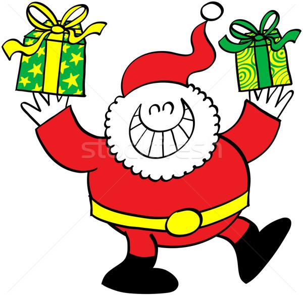 クール サンタクロース クリスマス プレゼント かわいい にやにや ストックフォト © zooco