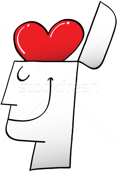 A heart in a head instead of a brain Stock photo © zooco