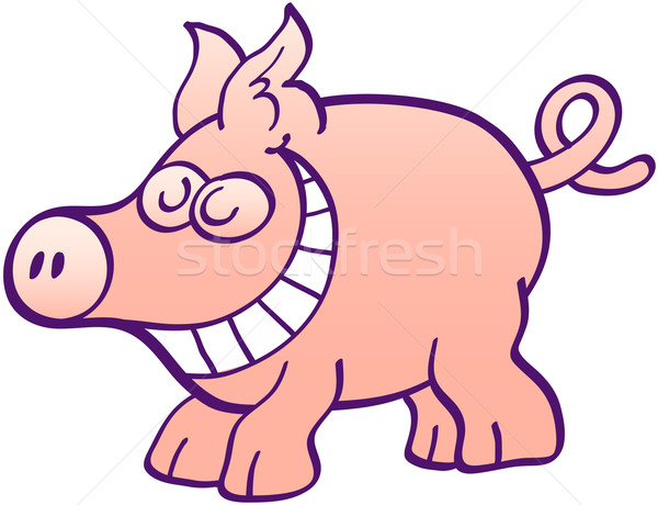 Funny piggy grinning and having fun Stock photo © zooco