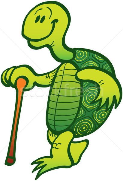 Nice old turtle going for a walk Stock photo © zooco