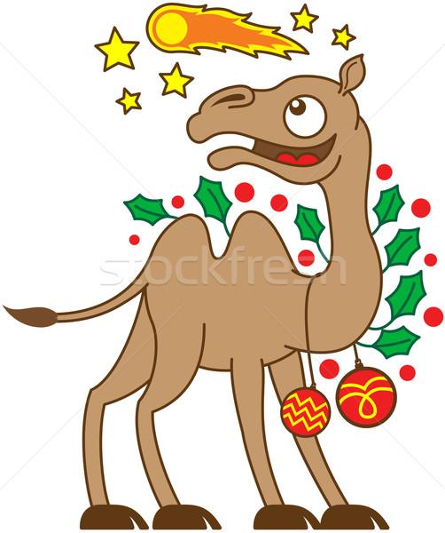 クリスマス ラクダ を見て 彗星 空 幸せ ストックフォト © zooco