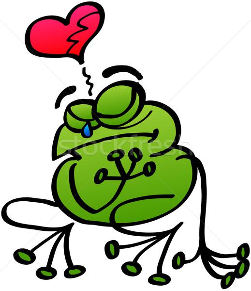 Kırık kurbağa yoksul yeşil duygu sevmek Stok fotoğraf © zooco