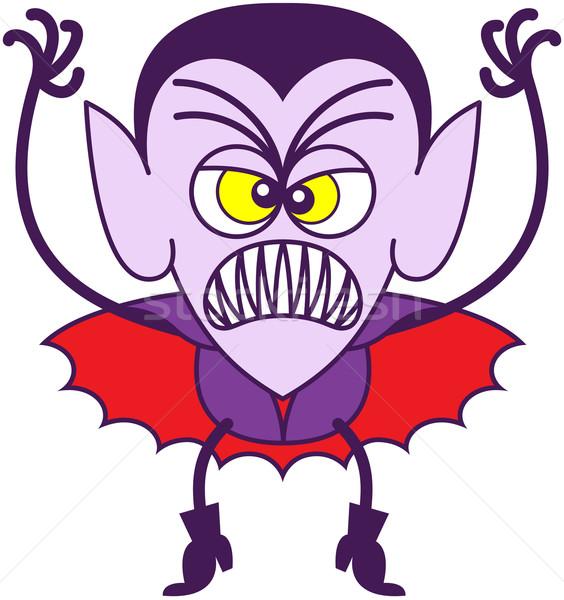 Assustador halloween zangado vampiro Foto stock © zooco