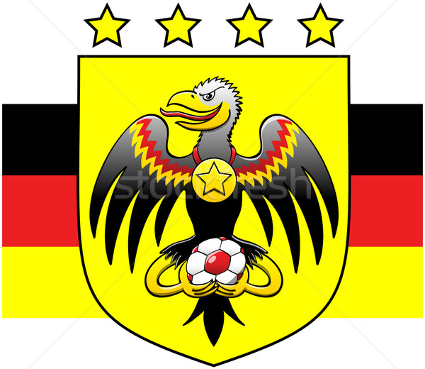 German coat of arms showing a black eagle while holding a soccer ball Stock photo © zooco