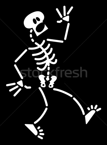 Halloween skeleton having a fright Stock photo © zooco