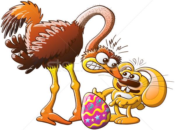 Conejo de Pascua alterar avestruz robado enorme Foto stock © zooco