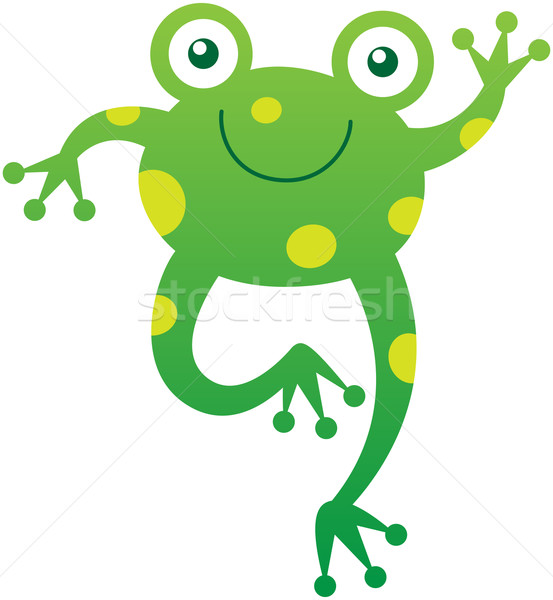 Cute дружественный лягушка ребенка желтый Сток-фото © zooco