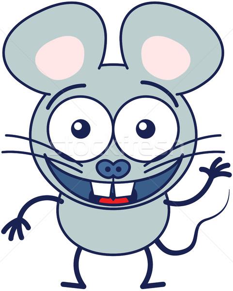 ストックフォト: いい · マウス · かわいい · グレー