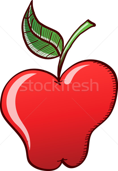 Appetizing red apple Stock photo © zooco
