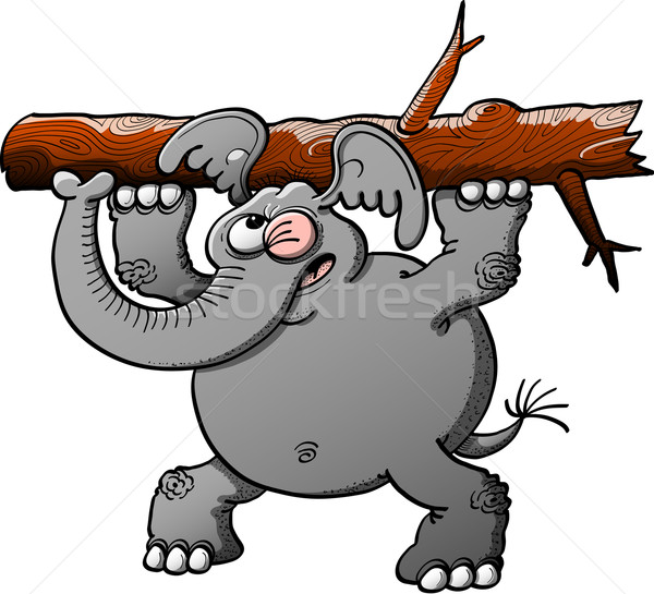 Grande elefante forte cinza Foto stock © zooco