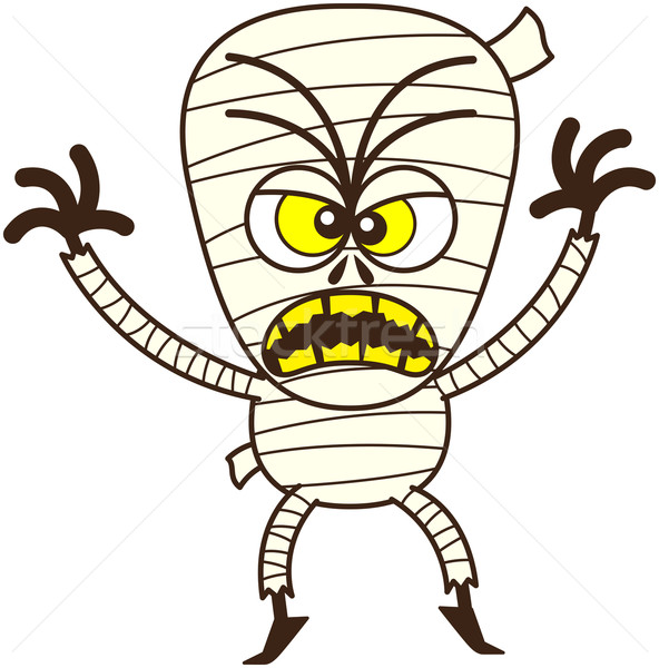 Angry Halloween mummy being scary Stock photo © zooco