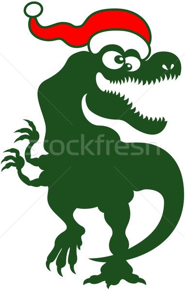 Karácsony nagy örömteli zöld mosolyog tánc Stock fotó © zooco
