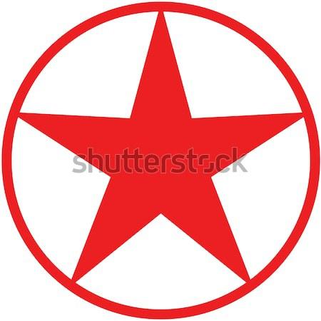 Karácsony csillag avatar piros bent kör Stock fotó © zooco