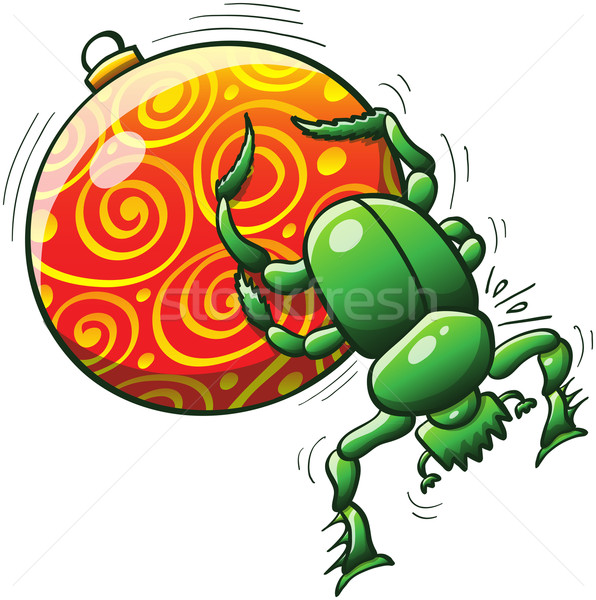 Рождества жук мяча зеленый Сток-фото © zooco