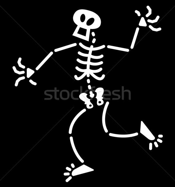 удивленный Хэллоуин скелет белый удивление Сток-фото © zooco