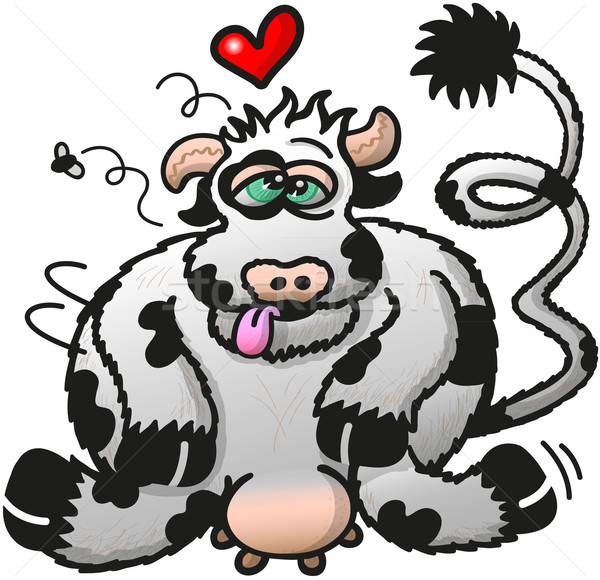 Cow battered by a passionate lover Stock photo © zooco
