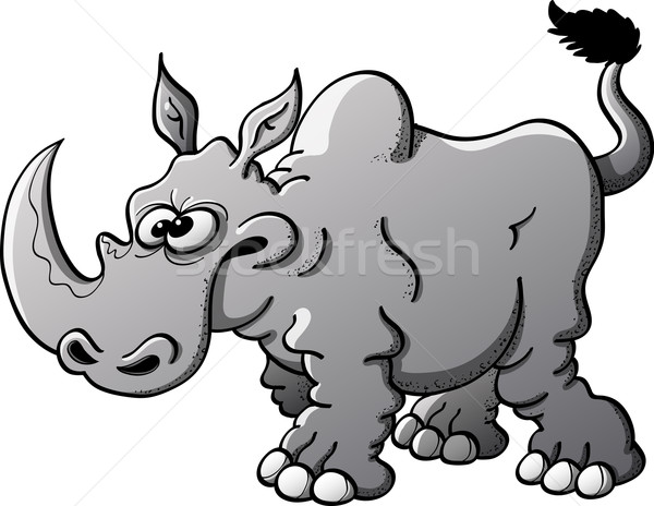 Gray rhino ready to charge Stock photo © zooco
