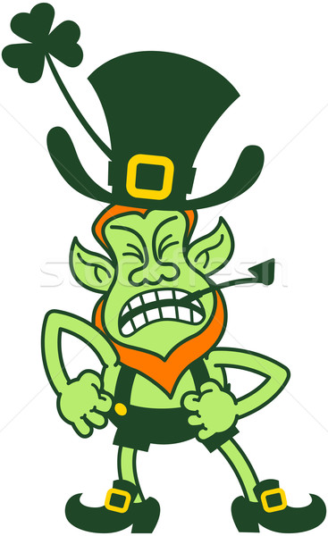 Saint Patrick's Day Angry Leprechaun Stock photo © zooco