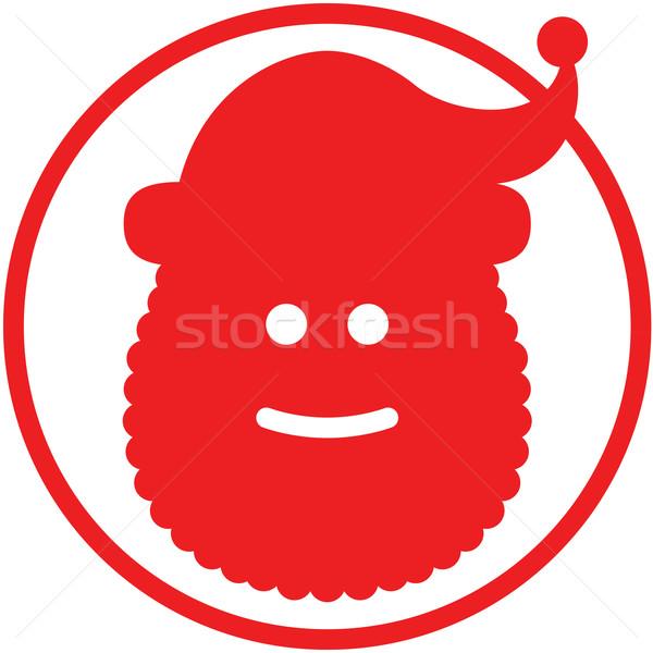 Karácsony mikulás avatar piros mosolyog visel Stock fotó © zooco