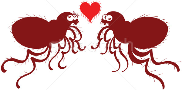 Ugly fleas madly falling in love Stock photo © zooco